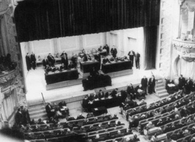 Une séance à l'Assemblée Nationale en 1940 © Comité en l'honneur des 80 parlementaires