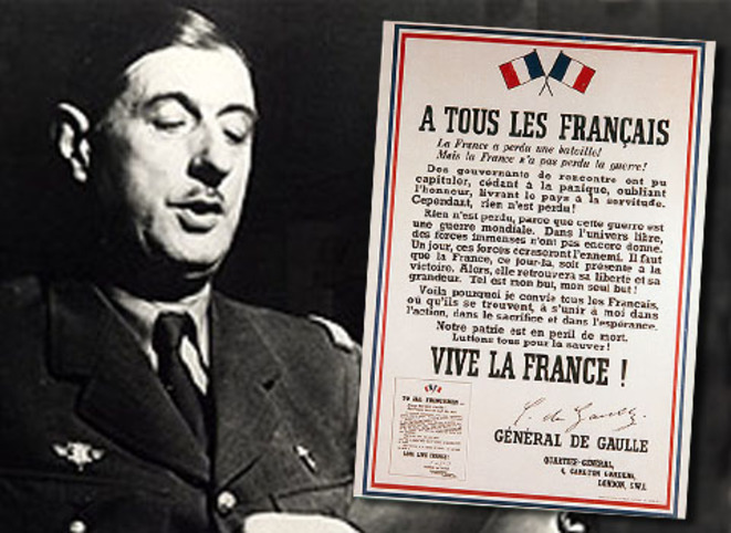 L'Appel du 18 juin 1940 par le Général de Gaulle © Comité en l'honneur des 80 parlementaires