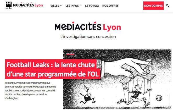 La nouvelle édition lyonnaise du site d'information Mediacités © Mediacités