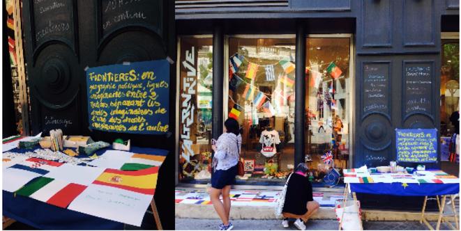 La journée de l'Europe a été célébrée à l'Alternative-Concept Store, 21 rue de la République (2e arr.) © Marie-Rose Frigière