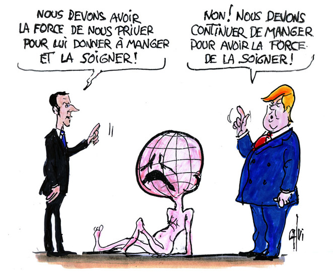 rencontre Macron Trump © Calvi