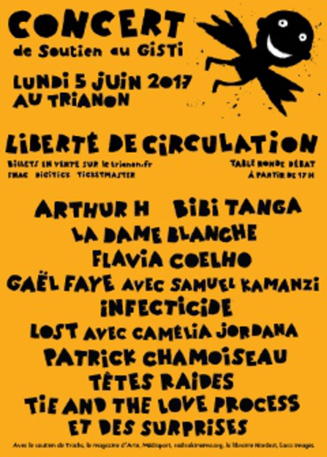 Affiche alternative du concert Liberté de circulation du 5 juin 2017 au Trianon