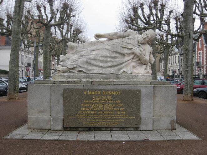 En hommage à Marx Dormoy, à Montluçon. © Hélène Staes