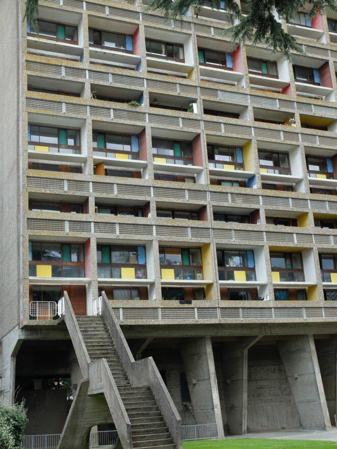 Rezé, près de Nantes, immeuble Le Corbusier [Ph. YF]
