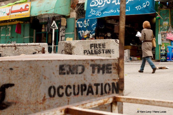 Road Block dans la ville d'Hébron © © Yann Levy / Hans Lucas
