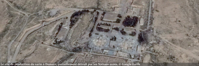 Sarin production site at Al Dumayr in Syria which was partially destroyed by the United Nations.