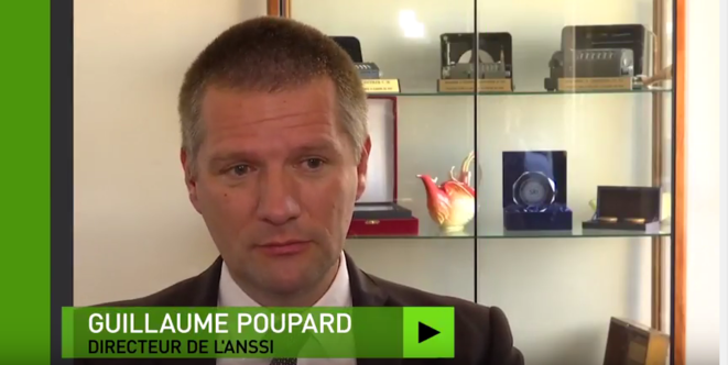 The head of France's cyber security agency ANSSI, Guillaume Poupard, interviewed by Russian media. © RT