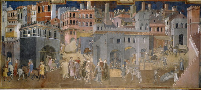 Ambrogio Lorenzetti, LE BON GOUVERNEMENT, 1338-9, Sienne