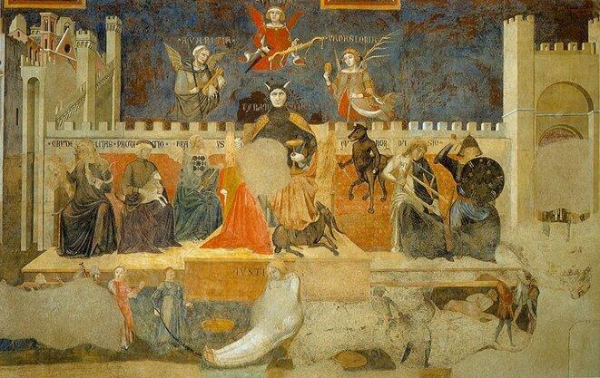 Ambrogio Lorenzetti, LE MAUVAIS GOUVERNEMENT, 1338-9, Sienne