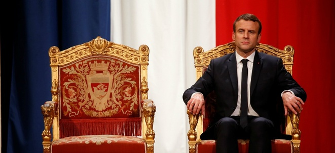 Emmanuel Macron à l'Hotel de ville, à Paris, le 14 mai 2017. Photo © CHARLES PLATIAU, AFP