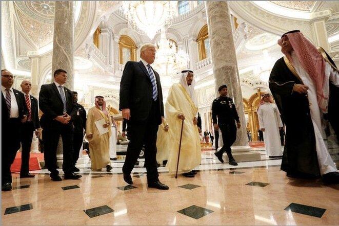 El 21 de mayo de 2017. Viaje del presidente estadounidense a Arabia Saudí. © Jonathan Ernst / Reuters