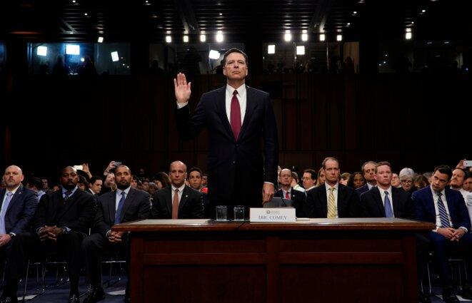 James Comey, ancien directeur du FBI, témoigne devant le Sénat des Etats-Unis, jeudi 8 juin 2017. © Reuters