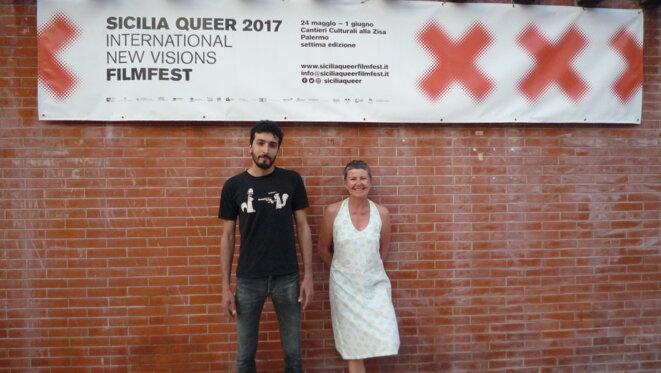 Youssef Gebran et Isabelle Bourgeuil, lors du Sicilia Queer Filmfest 2017
