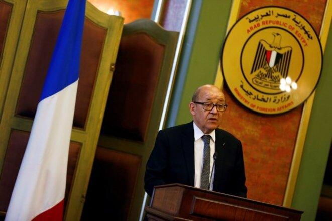 Jean-Yves Le Drian le 8 juin au Caire © Reuters