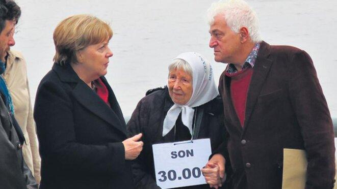 Vera Jarach avec Angela Merkel © Agence EFE