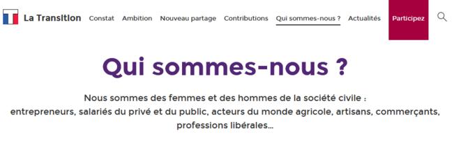 Présentation de La Transition sur son site officiel