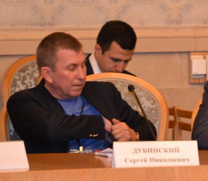 Sergey Dubinsky lors d'un congrès de l'«Union des volontaires du Donbass », qui s'est tenu à Moscou le 4 novembre 2016. Source : InformNapalm.