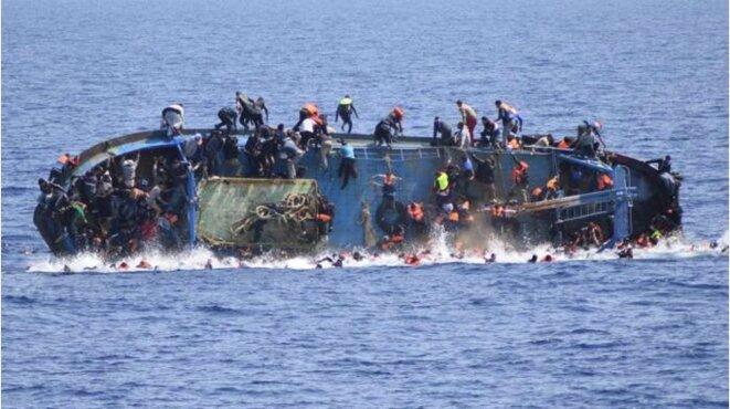 Au large de la Sicile, en Méditerranée, l'été dernier © EPA