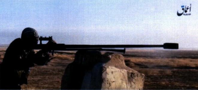Photo de propagande d'un tireur d'élite de l'État islamique © DR
