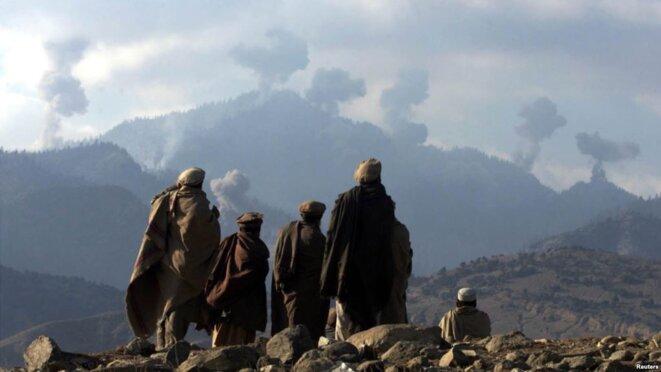 Bombardements US de Tora Bora en Afghanistan