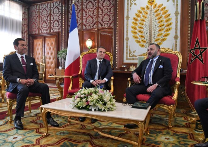 Emmanuel Macron with the King of Morocco Mohammed VI, right, during the French presdent's visit to Rabat on June 14th, 2017. © Reuters