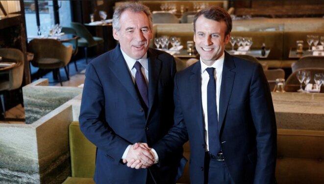 François Bayrou et Emmanuel Macron pendant la campagne présidentielle © Reuters