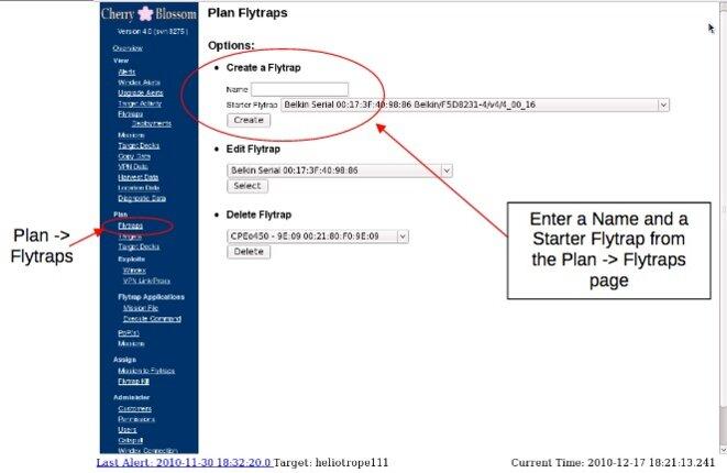 Une capture d'écran de Cherry Web © WikiLeaks