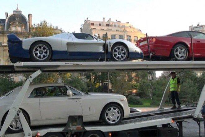 La saisie des voitures de luxe à Paris © DR