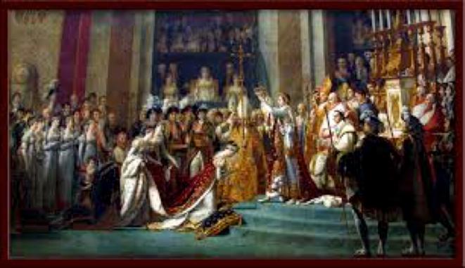 « le sacre de l'empereur Napoléon 1er et couronnement de l'impératrice Joséphine dans la cathédrale Notre Dame de Paris, le 2 décembre 1804 »,