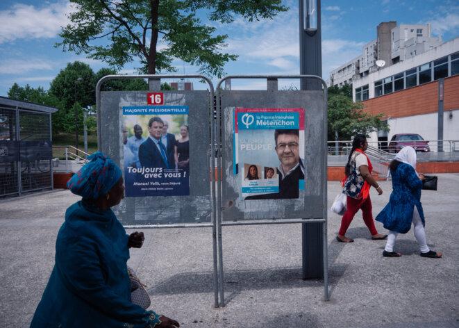 Devant la gare d'Évry-Courcouronnes © L.E.