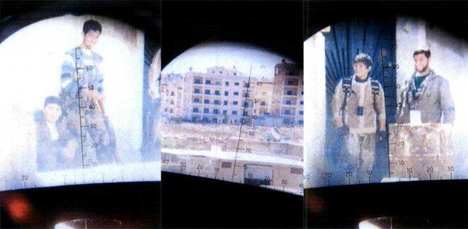 Images prises depuis la visée d'un sniper de l'État islamique © DR
