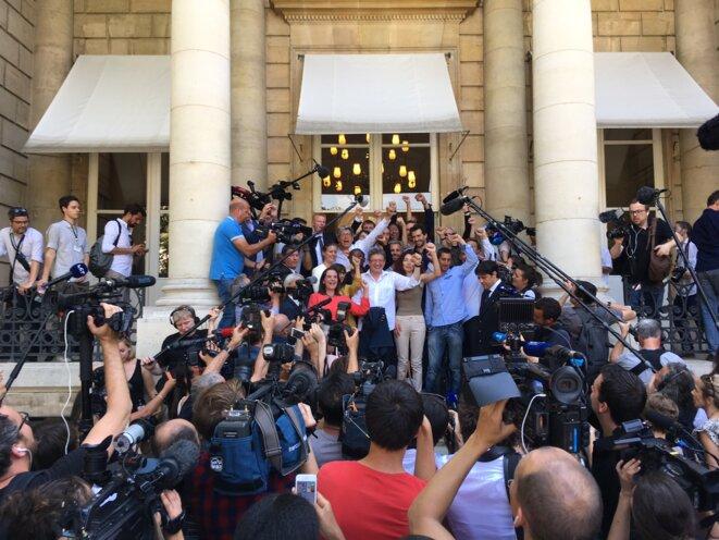 Les députés « insoumis » à l'Assemblée, mardi 20 juin © Mathieu Magnaudeix