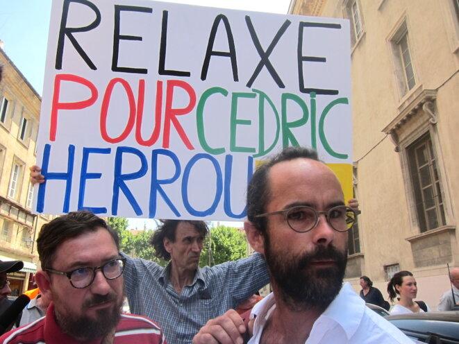 Cédric Herrou, peu avant son procès, lundi 19 juin 2017. © LF