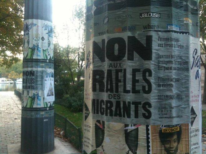 Non aux rafles © La Chapelle Debout
