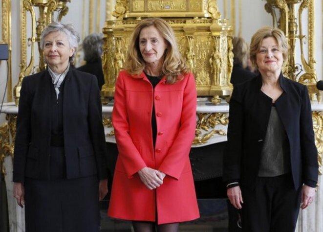 Nicole Belloubet, au centre, en 2013 © Reuters