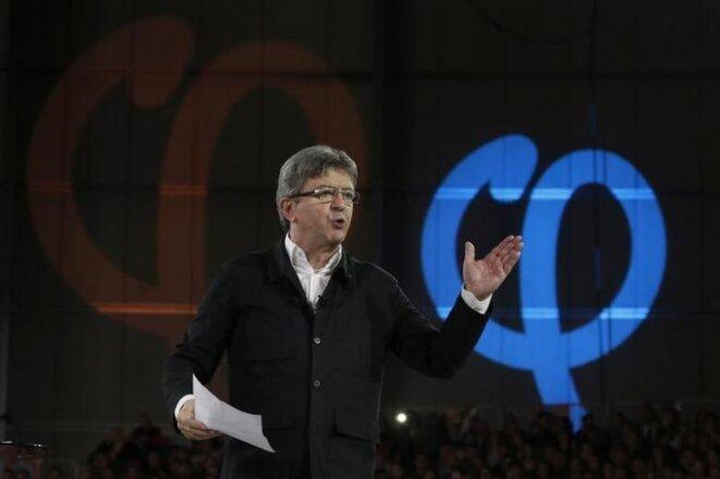 Jean-Luc Mélenchon, lors d'un meeting à Lille © Reuters