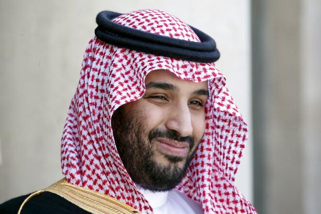 Mohammed ben Salman en visite à Paris en 2015. © Reuters