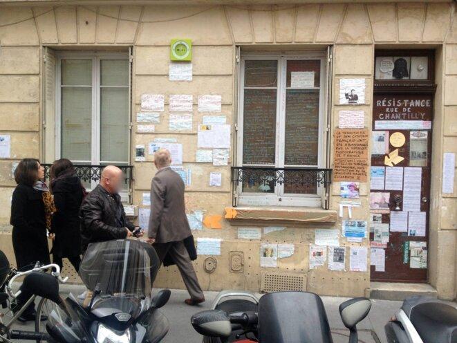 Le Mur Chez moi, Paris, 1 rue de Chantilly, jusqu'en juillet 2015.
