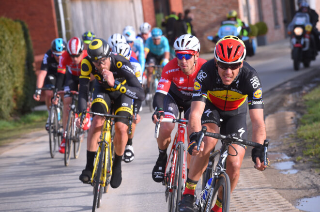 Belgian cyclist Philippe Gilbert, in lead, who had a company based in Luxembourg. © Quick step