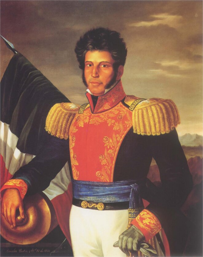 Vicente Guerrero, président de la République mexicaine qui a aboli l'esclavage en 1829