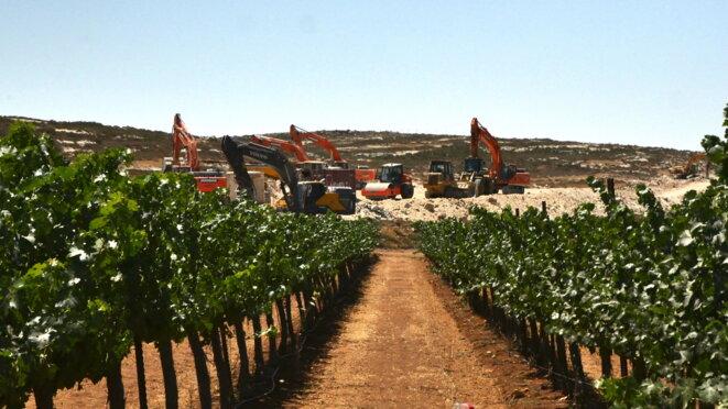La construction d'Amichai a commencé la semaine dernière. © C. D.