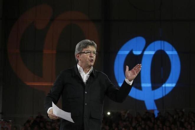 Jean-Luc Mélenchon, durante un mitin en Lille. © Reuters