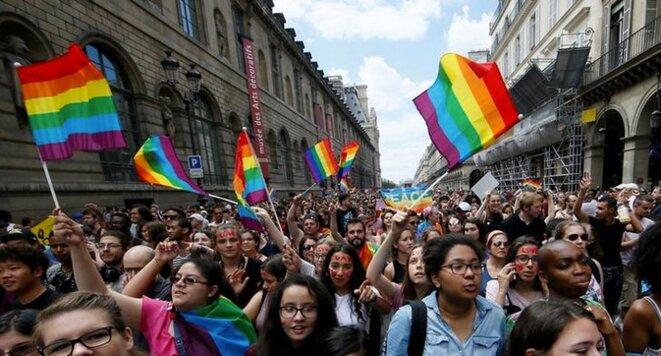 La marche des fiertés à Paris, le 24 juin 2017. © Reuters