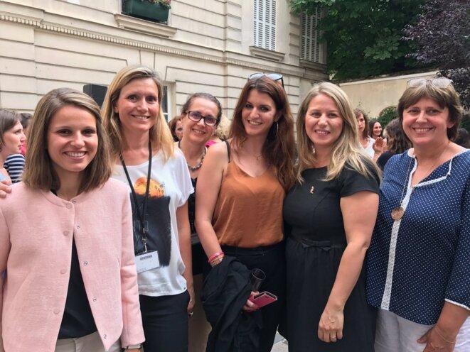 Yaël Braun-Pivet (2e à gauche), ce week-end, avec d'autres députées LREM des Yvelines © Compte Twitter