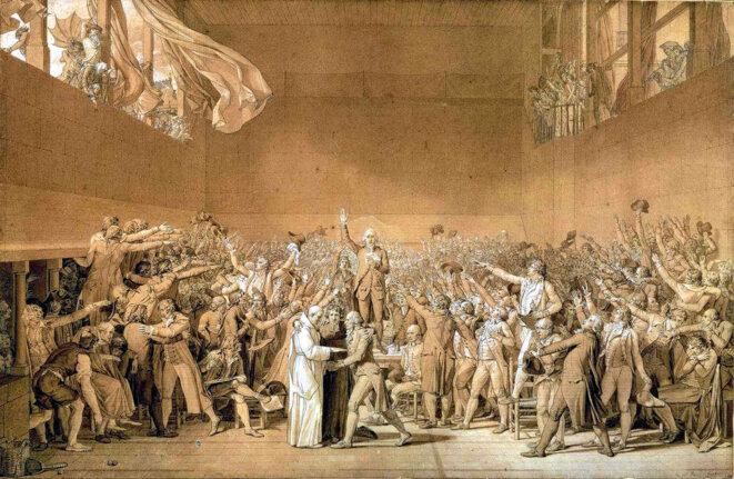 Le Serment du Jeu de Paume à Versailles, dessin de David