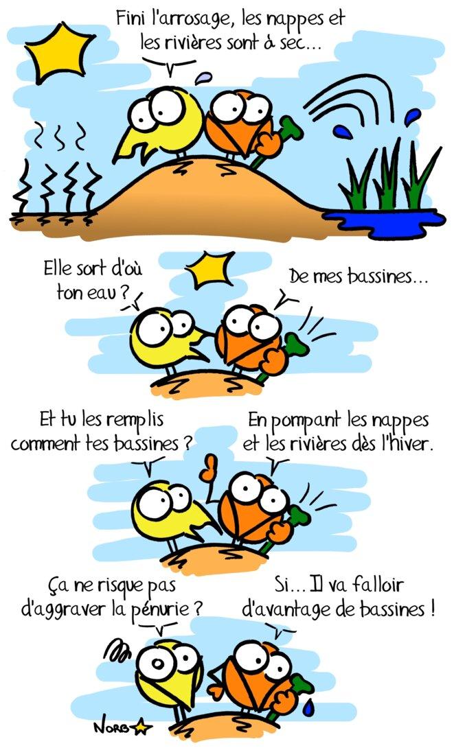 Réserves de substitution pour l'irrigation agricole: Ga Bu Zo Meu! © Norb