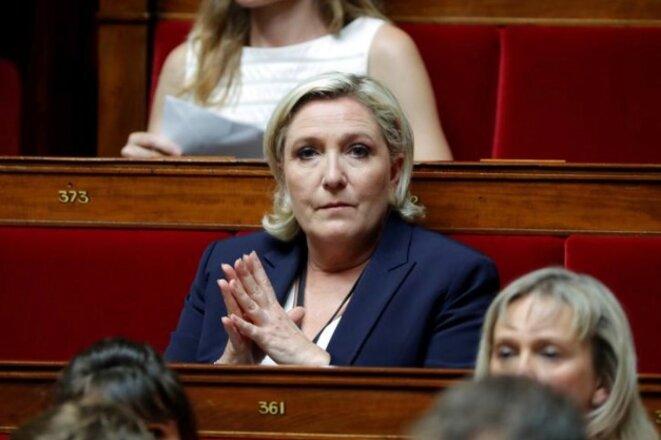 Marine Le Pen à l'Assemblée nationale, le 27 juin 2017. © Reuters