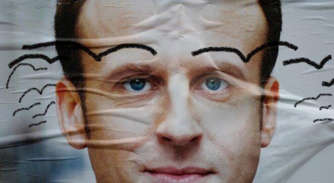 Macron - Affiche campagne à oiseaux