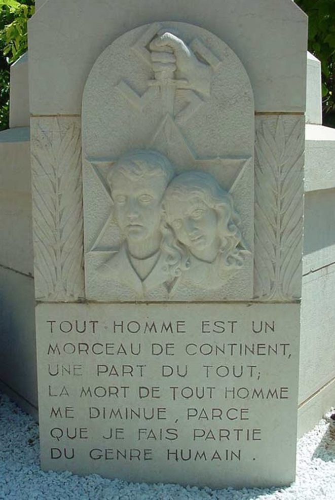 Le monument aux enfants d'Izieu à Brégnier-Cordon