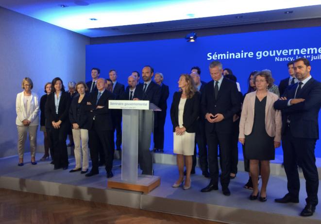 Séminaire gouvernemental, le 1er juillet, à Nancy © ES